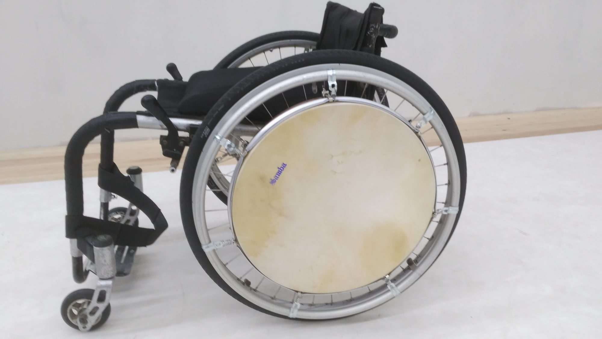 Wheelchair Drum de piel