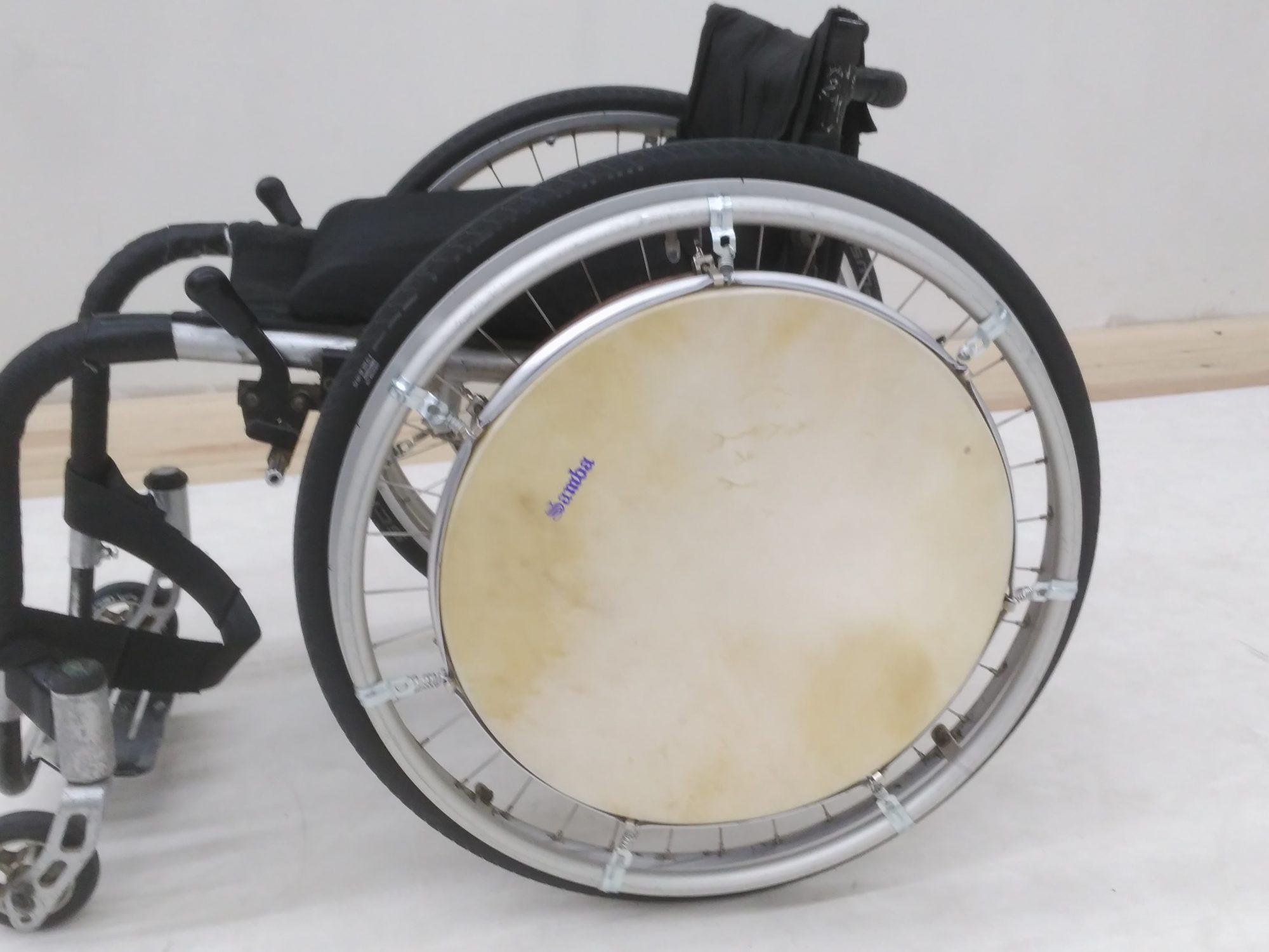 WheelChairDrum. Percusión para personas con movilidad reducida en silla de ruedas manual